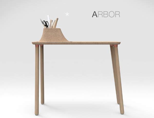 Arbor un bureau d 39 appoint original par tim defleur for Bureau d appoint