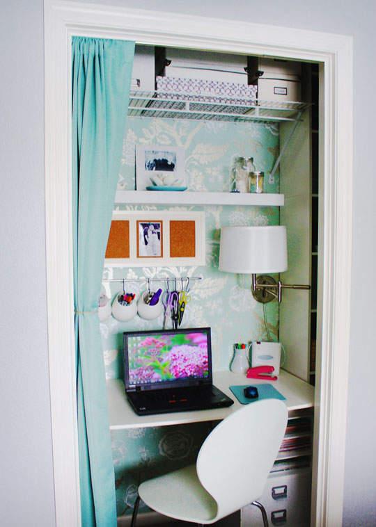 O installer son bureau lorsqu 39 on manque de place for Bureau dans un placard