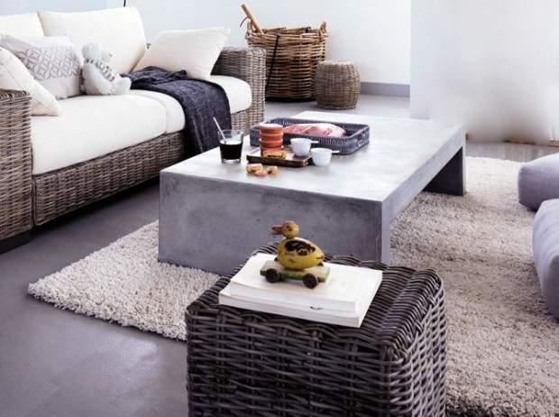 Table basse comment bien la choisir en 5 points - Table de salon en beton cire ...