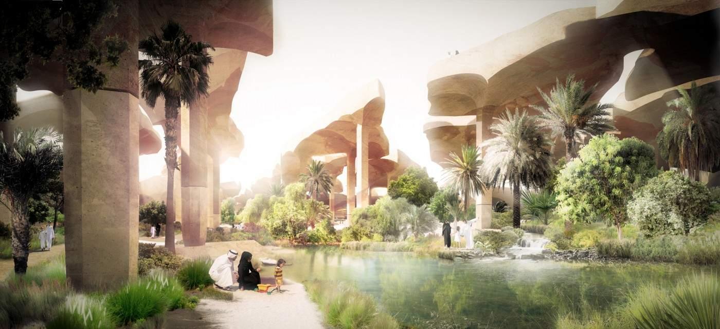 Al Fayah Park oasis by Heatherwick Studio 1