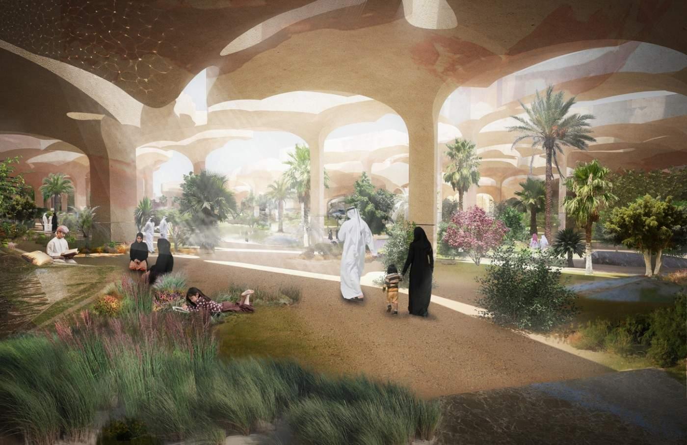 Al Fayah Park oasis by Heatherwick Studio 2