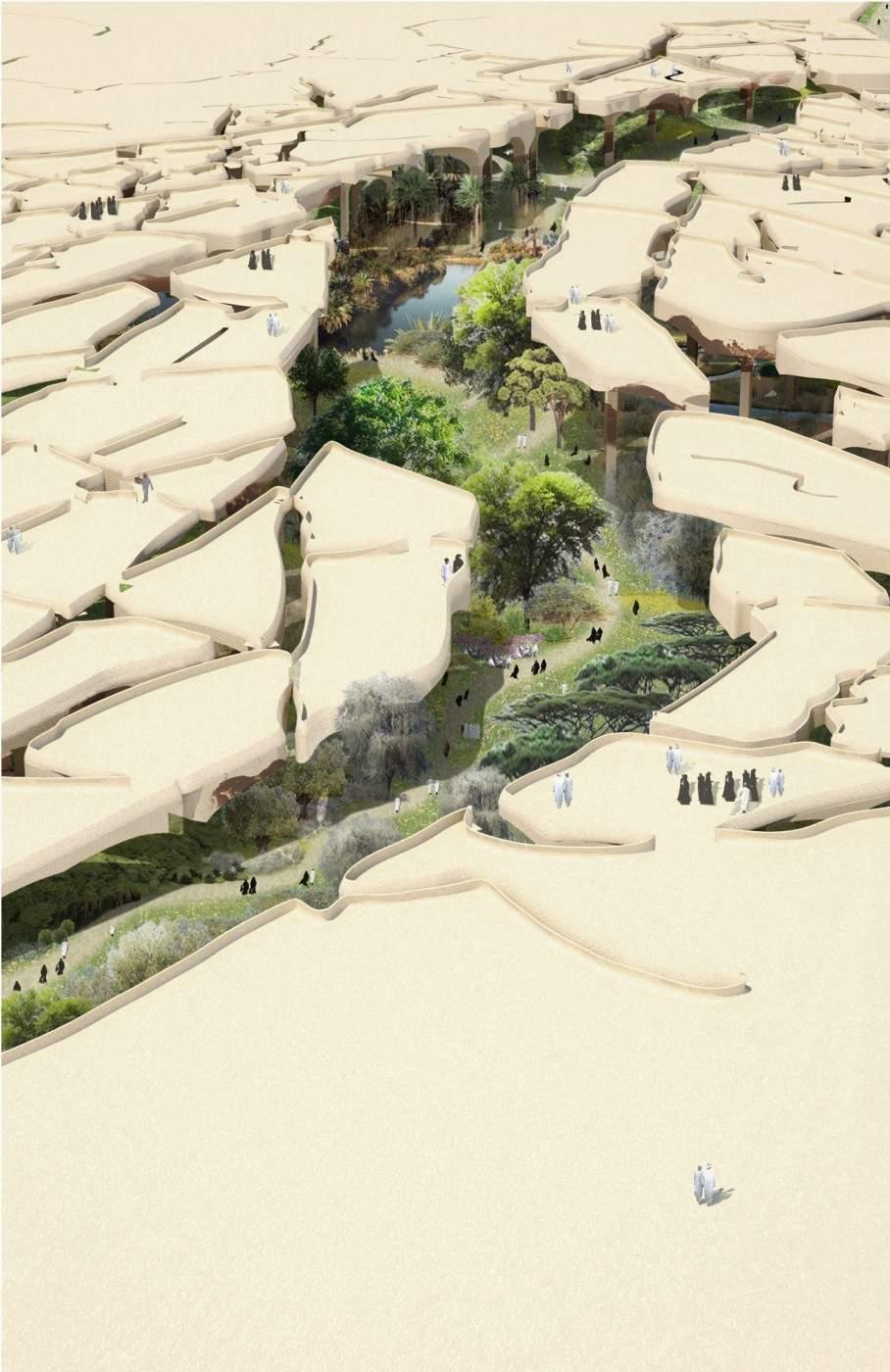 Al Fayah Park oasis by Heatherwick Studio