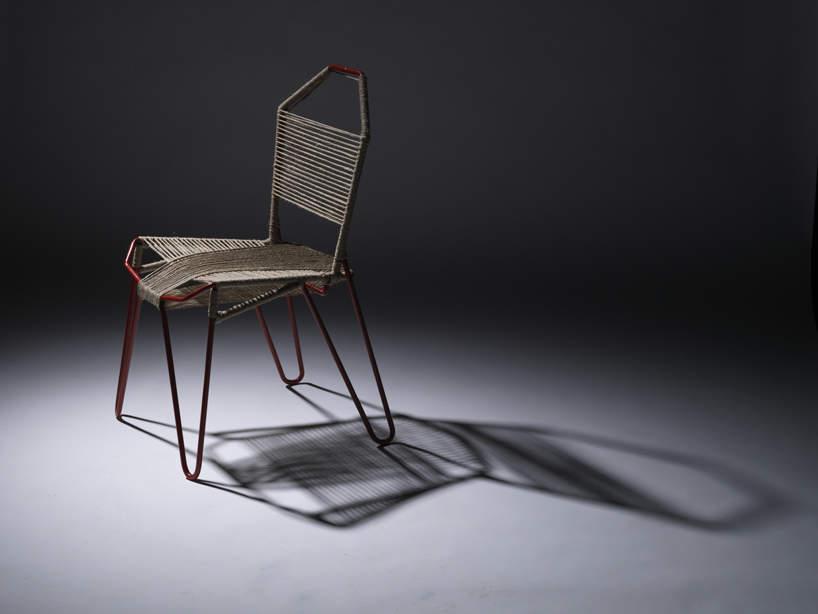 Singularis une chaise l 39 assise tiss e par wendy pham for Chaise quadrillage
