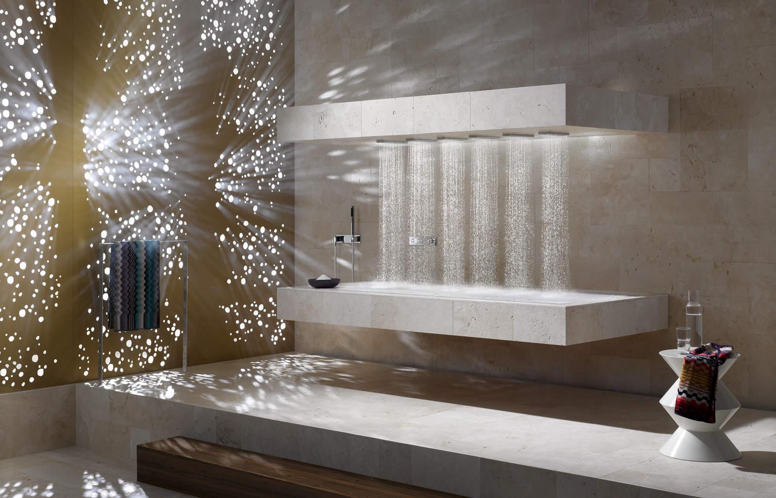 la douche horizontale par dornbracht. Black Bedroom Furniture Sets. Home Design Ideas