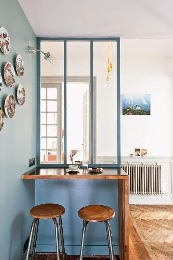 La verri re int rieure une cloison tendance - Verriere interieure cuisine ...