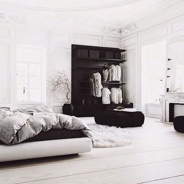 Quelques id es pour vous cr er un bout de lit design - Chambre noir et blanche ...