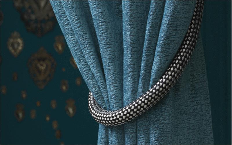Tissus d 39 ameublement tissus rideaux passementerie - Embrasse de rideaux originale ...