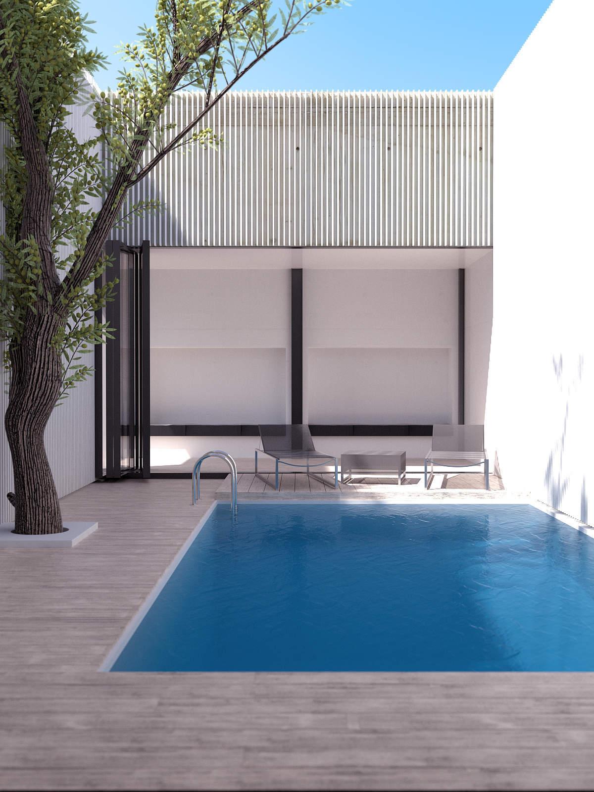 Piscine dans une terrasse en bois : un intemporel en matière de piscine
