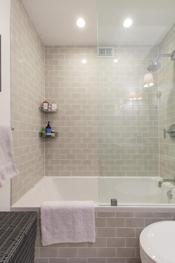 Une baignoire réagencée