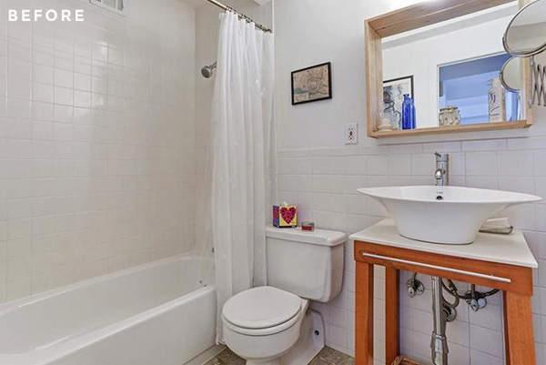 La salle de bain avant d'être aménagée