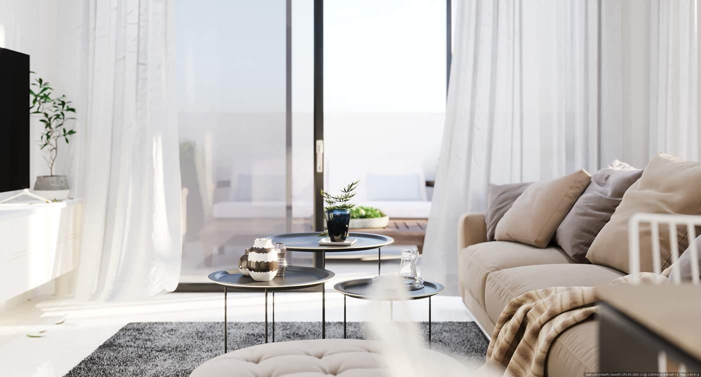 Un appartement avec un salon chaleureux et confortable