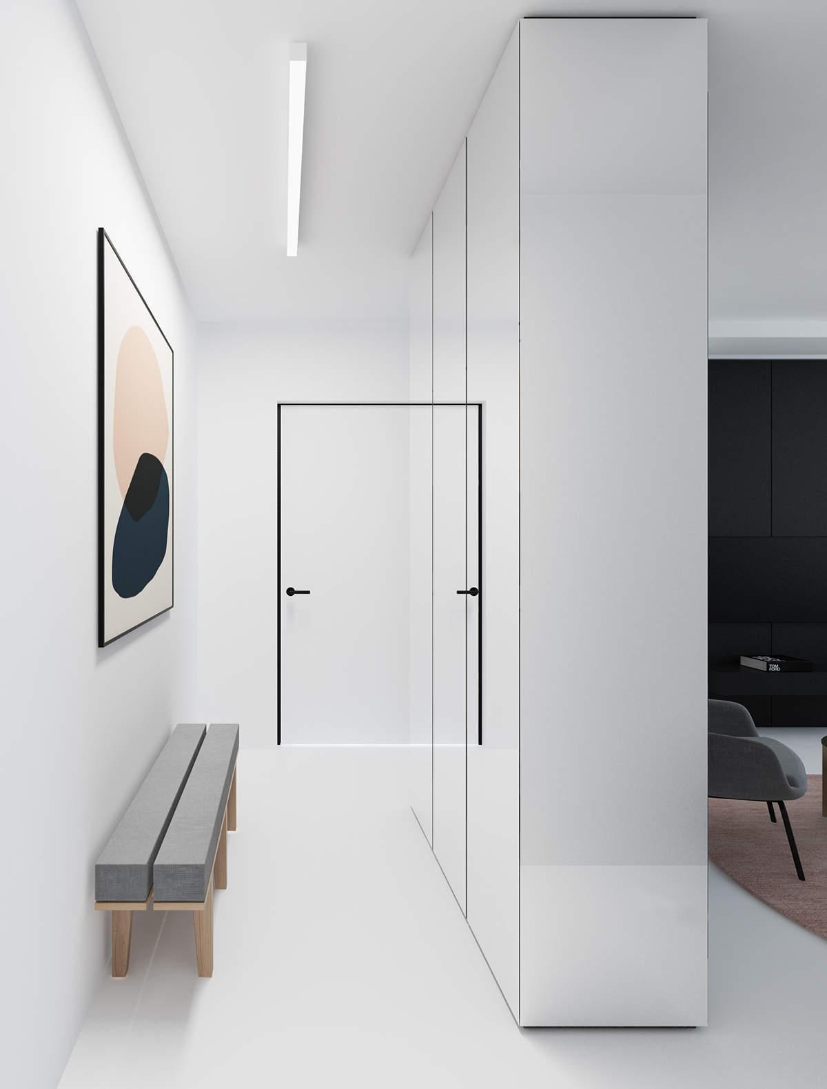 Une armoire en guise de couloir