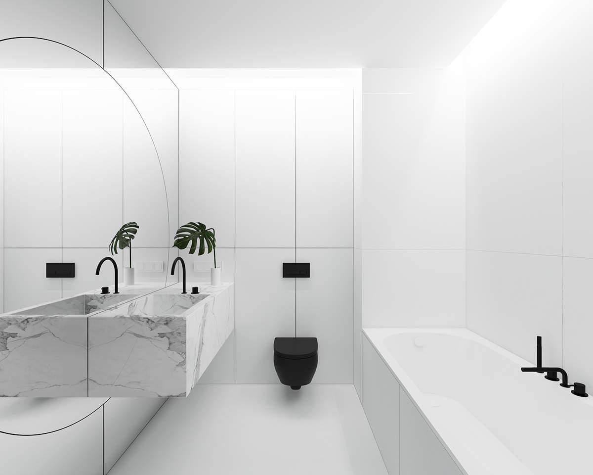 Une baignoire minimaliste et design