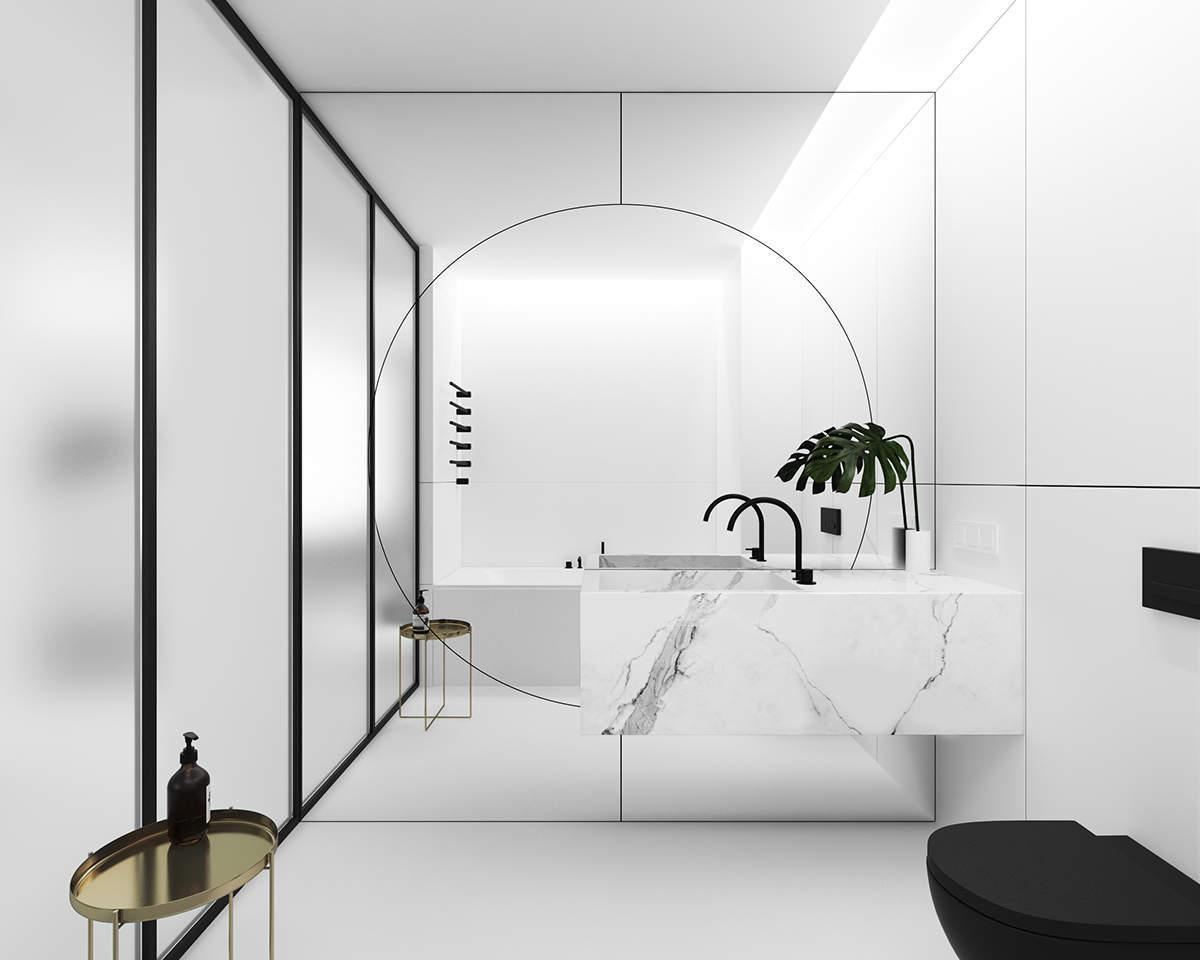 Une salle de bain originale