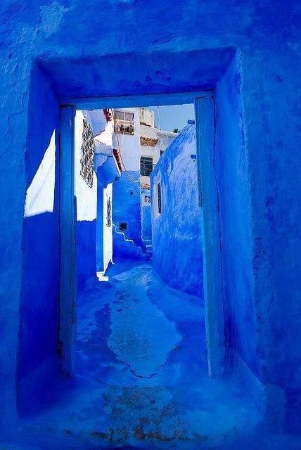 rue bleue Chefchaouen