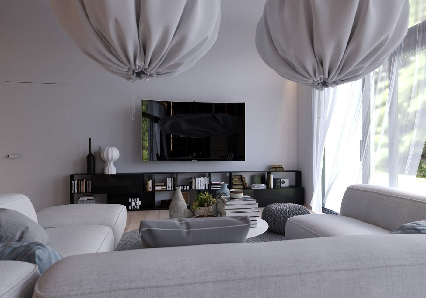Archants studio un appartement design et lumineux aux for Appartement design gris