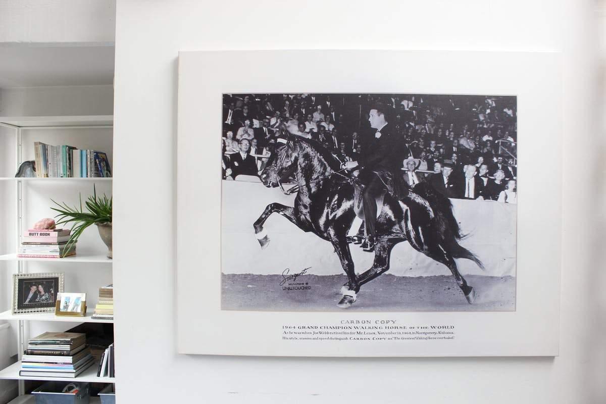 Photographie de son grand-père champion