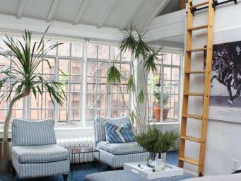 New-York : un studio-loft aux styles vintage et original
