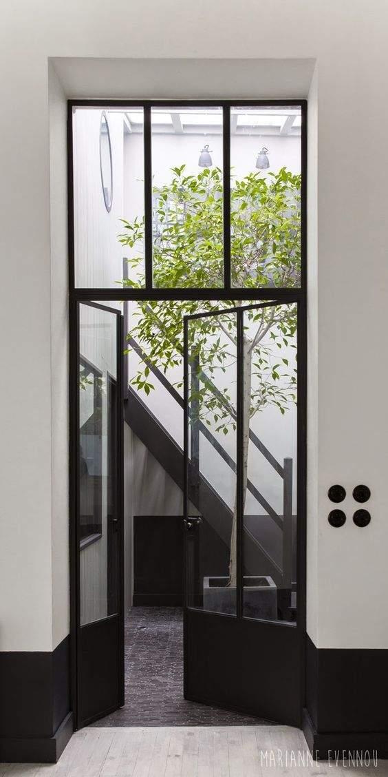 Une porte d'entrée comme verrière
