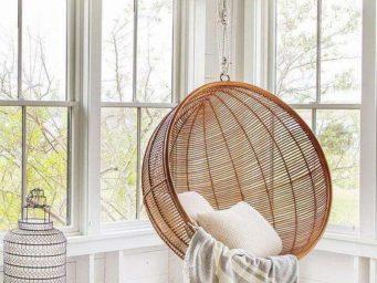 10 fauteuils suspendus pour un espace cocooning chez soi même l'hiver