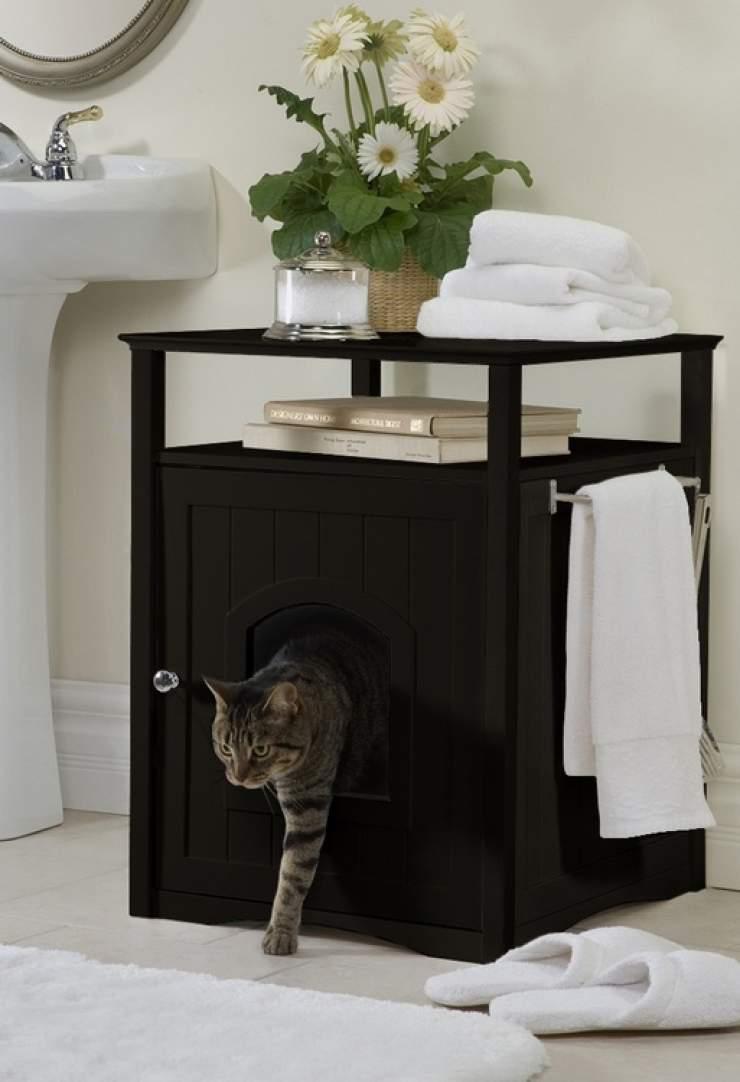 meuble de salle de bain cache litiere