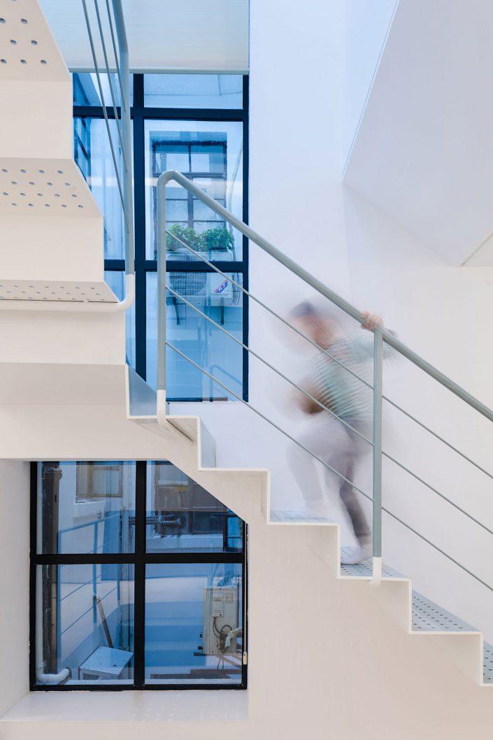 fenetres de l'espace escalier