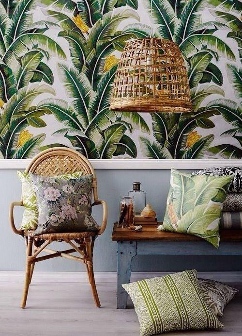 joli papier peint de plantes tropicales papier peint panoramique