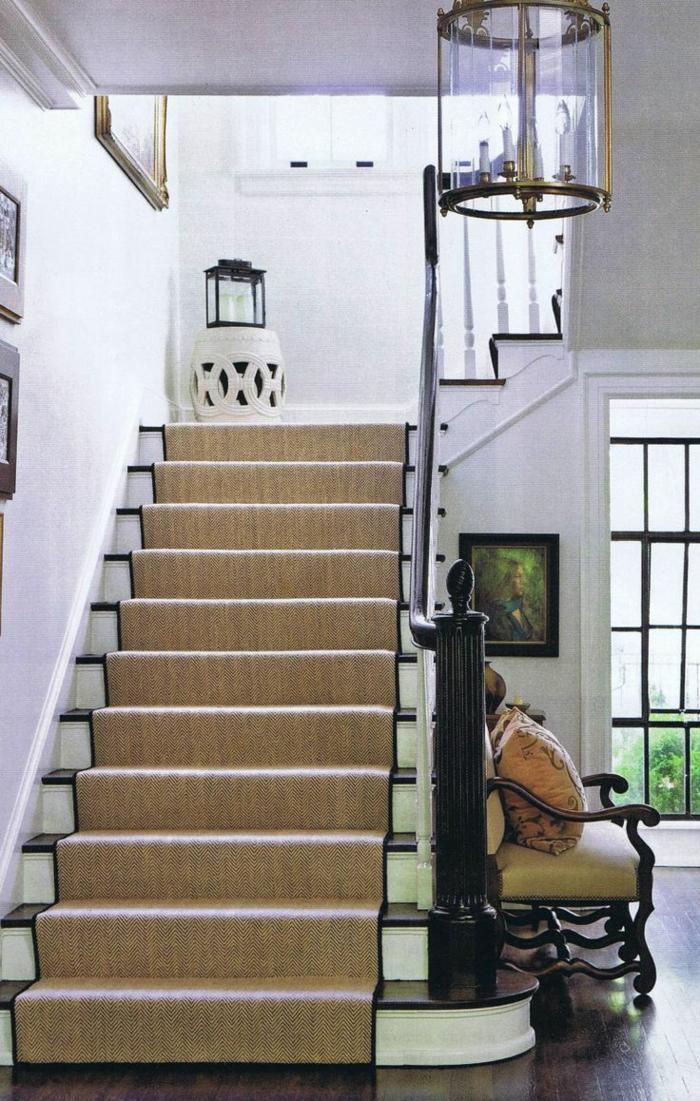tapis ou moquette d'escalier en jonc de mer archz
