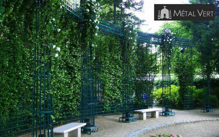Treillages Metal Vert Classique Jardin