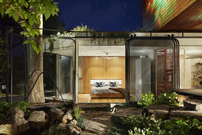 chambre minimaliste en bois