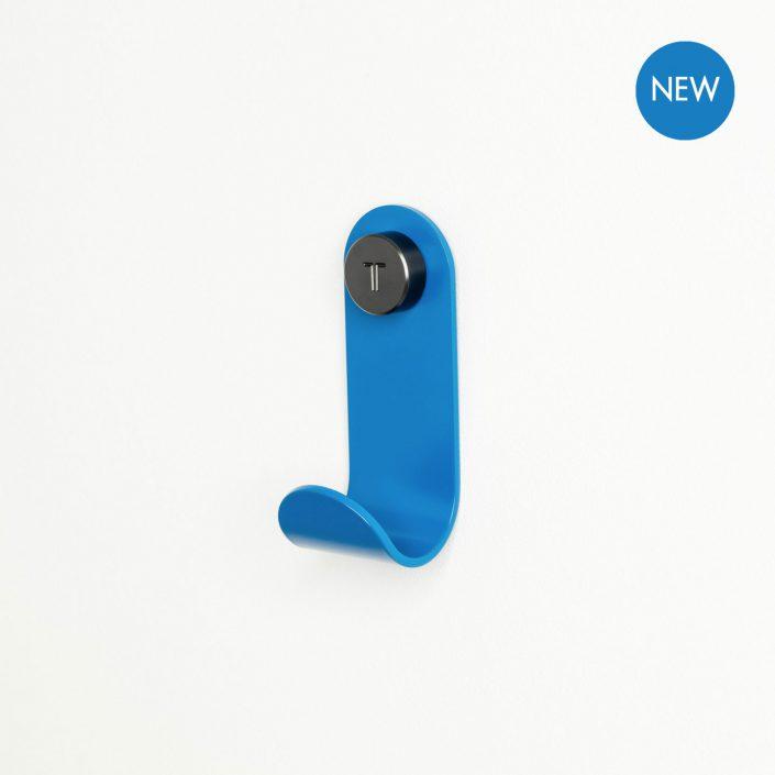 patere design tiptoe bleu