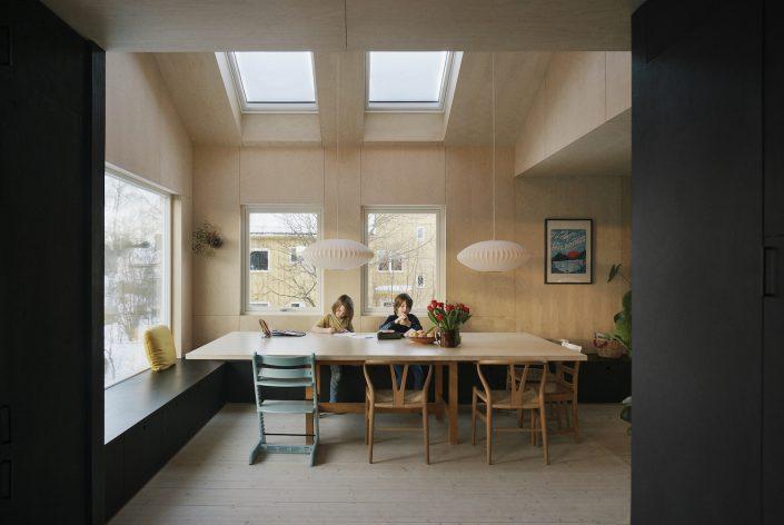table de repas rectangulaire en bois clair design