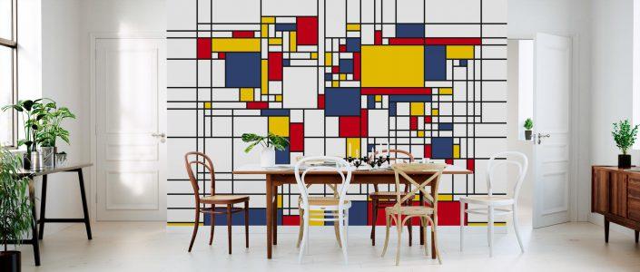 Papier peint panoramique Mondrian