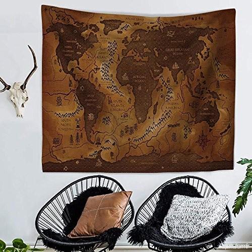 map monde en tissu