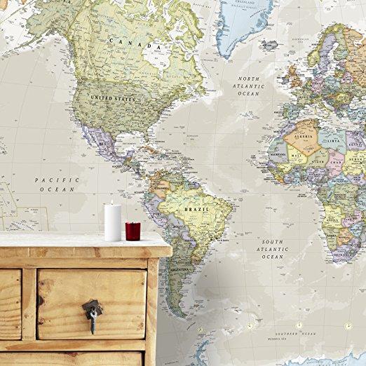 une map monde classique en papier