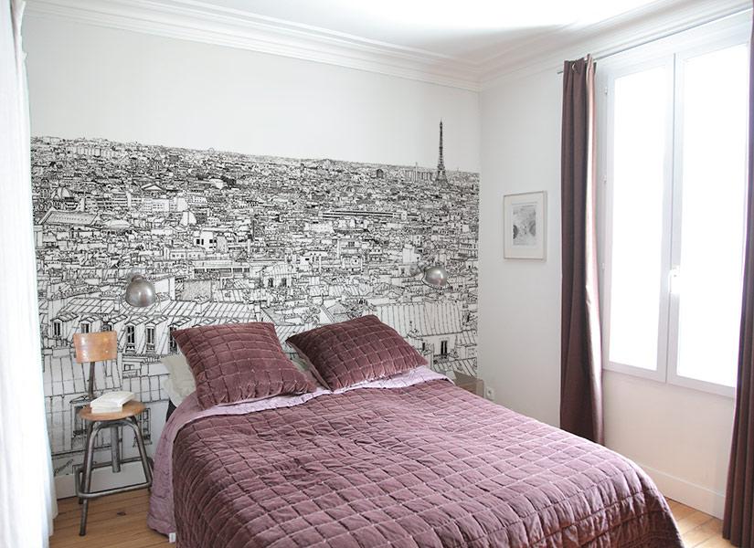 Dans une chambre Papier peint panoramique entre Invalides et Tour Eiffel a Paris