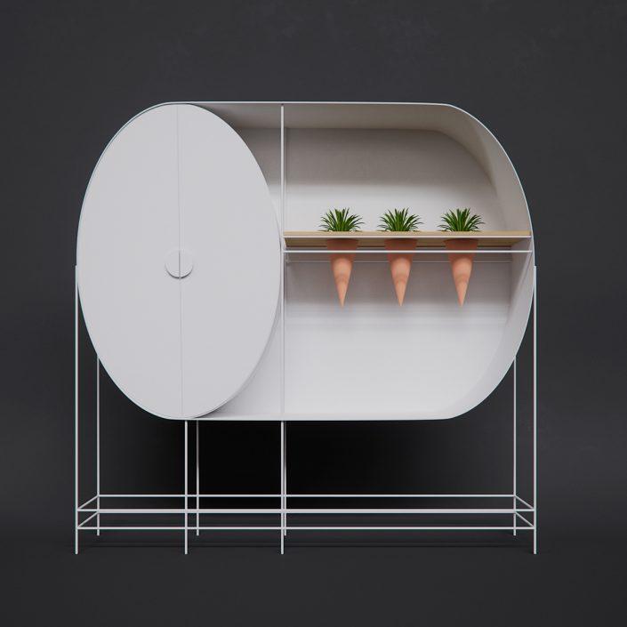 Dima Dubchak et son meuble geometrique