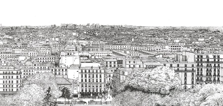 Papier peint big panoramique Montmartre