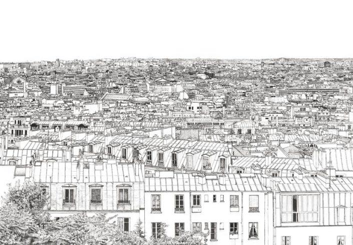 Papier peint panoramique Opera Grand Palais de Thomas Lable