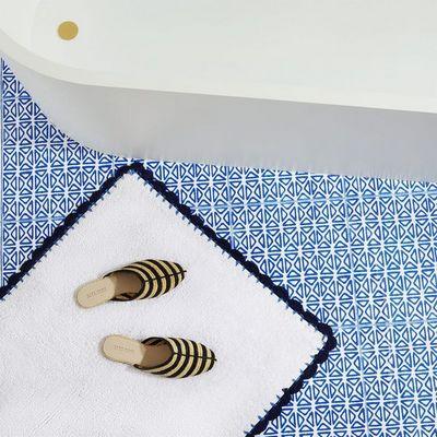 Tapis de bain - modele bicolore