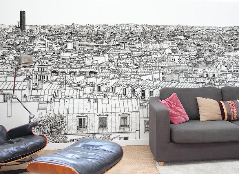 Un autre salon avec le le tour Montparnasse et Tour Eiffel de Thomas Lable