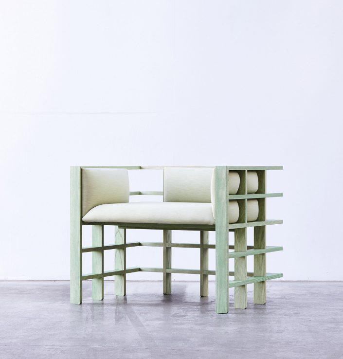 Un certain modele de mochi range est colore en vert