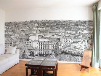 Afficher Paris en panoramique sur vos murs avec les illustrations de Thomas Lable