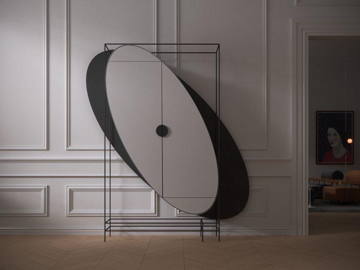 Une garde-robe aux formes geometriques