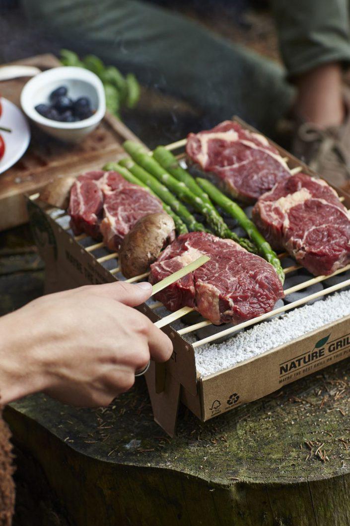 barbecue casus grill avec viande