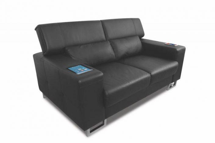 canapé de place, vue en diagonale