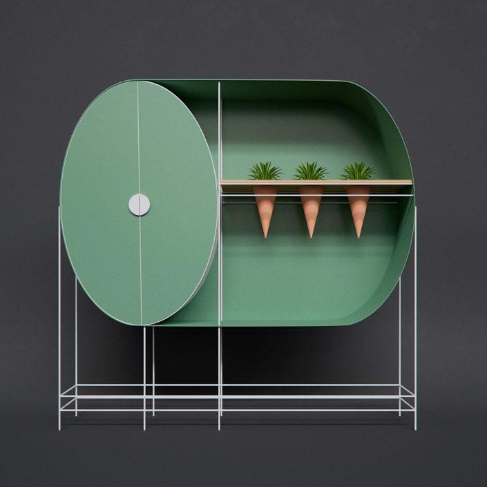 garde robe et espace vert dans un seul meuble