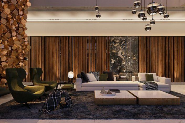 interieur contemporain et design avec fauteuils