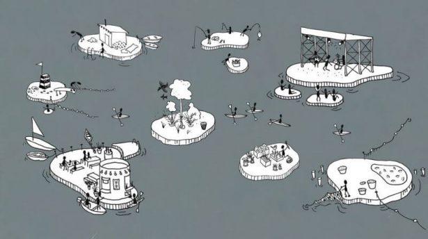 les iles flottantes a Copenhague