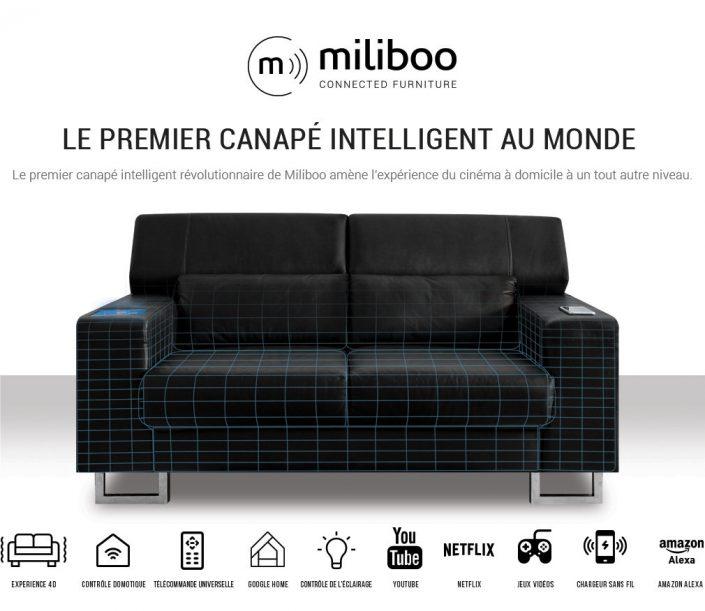pub miliboo pour canapé connecté 4D Miliboo Connected furniture